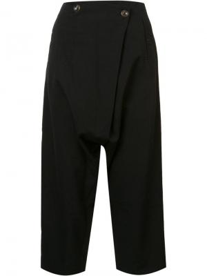 Укороченные брюки Song For The Mute. Цвет: чёрный