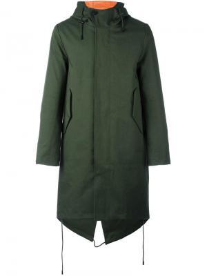 Пальто Hornstull Stutterheim. Цвет: зелёный