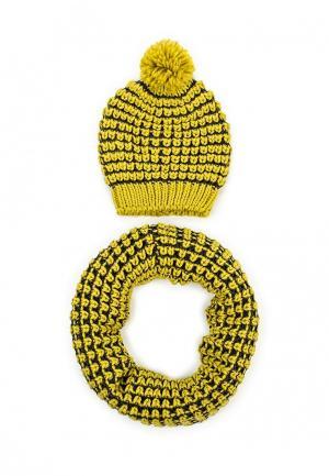 Комплект шапка и шарф Venera. Цвет: желтый