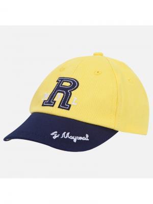 Бейсболка Mayoral. Цвет: желтый