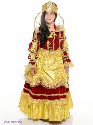 Карнавальный костюм Королева Золотая Батик. Цвет: золотистый