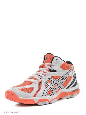 Волейбольные кроссовки Gel-Volley Elite 3 Mt ASICS. Цвет: оранжевый, белый, серебристый