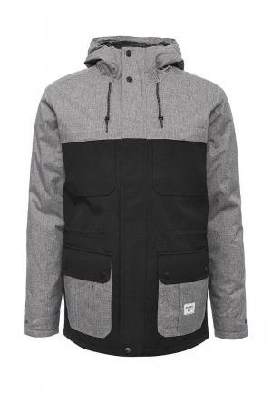 Куртка утепленная Billabong. Цвет: серый