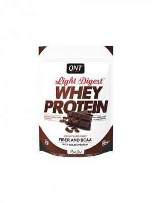 Протеин Light Digest Whey Protein (бельгийский шоколад) 500 гр QNT. Цвет: белый