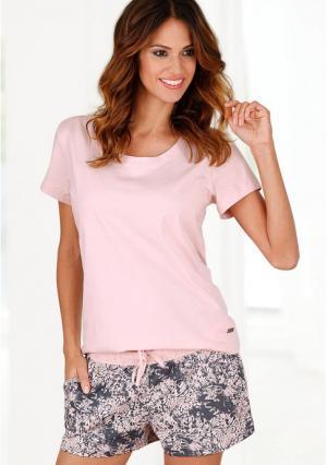 Пижама с шортами Buffalo. Цвет: мятный с рисунком, розовый с рисунком, темно-серый с рисунком