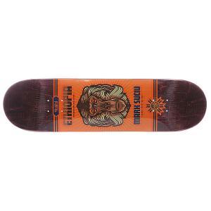 Дека для скейтборда  S5 Suciu Java 32.5 x 8.25 (21 см) Habitat. Цвет: оранжевый,коричневый