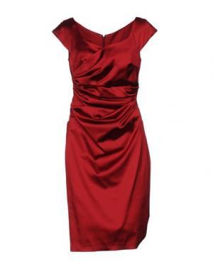 Платье до колена TALBOT RUNHOF. Цвет: пурпурный