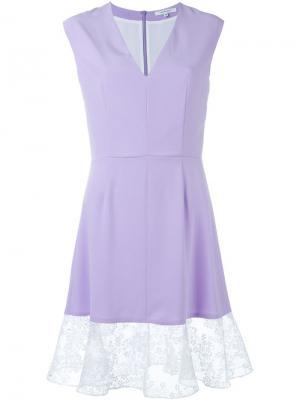 Платье с кружевным подолом Carven. Цвет: розовый и фиолетовый