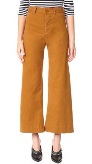 Широкие брюки Ryan с высокой талией Emerson Thorpe. Цвет: коричневый