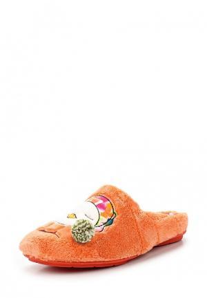 Тапочки Costa. Цвет: оранжевый