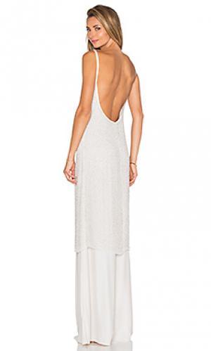 Макси платье embellished Hoss Intropia. Цвет: серый