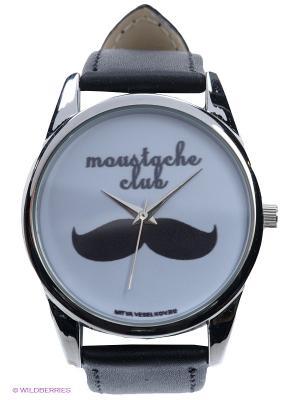 Часы Усачи Mitya Veselkov. Цвет: черный, белый, серебристый