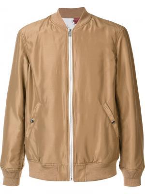 Куртка-бомбер на молнии Undercover. Цвет: телесный