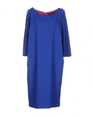 Платье до колена IVAN MONTESI. Цвет: ярко-синий