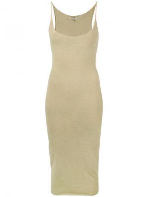 Приталенное платье Yeezy. Цвет: телесный
