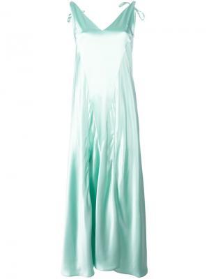 Платье с V-образным вырезом Attico. Цвет: зелёный