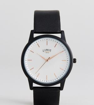 Limit Часы с черным кожаным ремешком эксклюзивно для ASOS. Цвет: черный