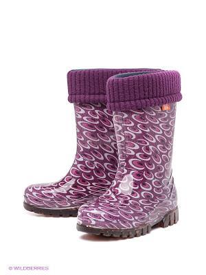 Резиновые сапоги DEMAR. Цвет: фиолетовый