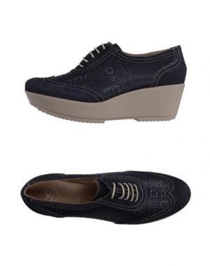 Обувь на шнурках HÉCOS. Цвет: темно-синий