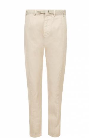 Хлопковые брюки чинос No. 21. Цвет: бежевый