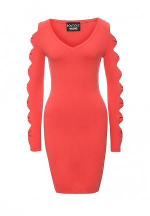 Платье Boutique Moschino. Цвет: коралловый