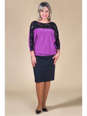 Блузка Милада. Цвет: лиловый