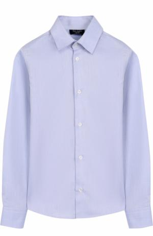 Хлопковая рубашка Dal Lago. Цвет: синий