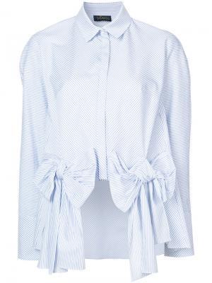 Рубашка с бантом Petersyn. Цвет: белый