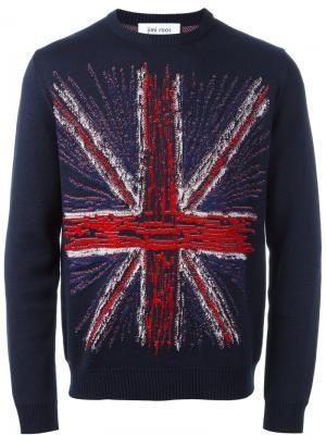 Джемпер с Британским флагом Jimi Roos. Цвет: синий