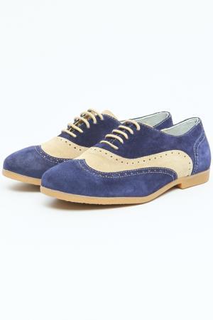 Туфли Etor. Цвет: синий, серый, нубук