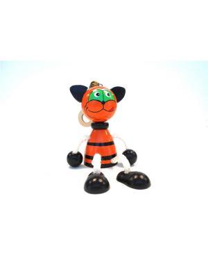 Игрушка подвеска на пружине - Кот рыжий Taowa. Цвет: оранжевый