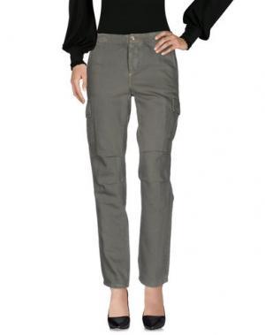 Повседневные брюки OSSO GOCCIA. Цвет: зеленый-милитари