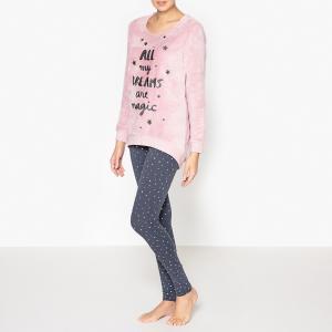 Пижама с принтом La Redoute Collections. Цвет: лиловый/синий