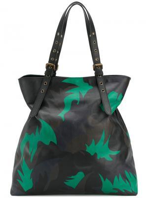 Большая камуфляжная сумка Tomas Maier. Цвет: чёрный