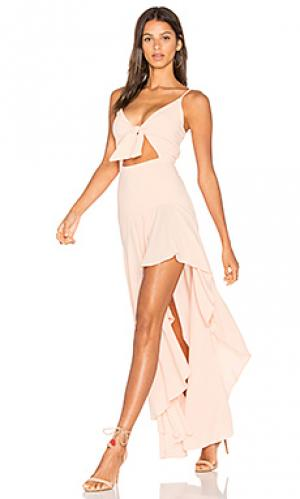 Платье tied up & twisted Stillwater. Цвет: розовый