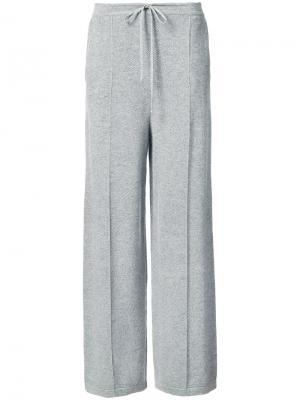 Расклешенные брюки Oscar de la Renta. Цвет: серый