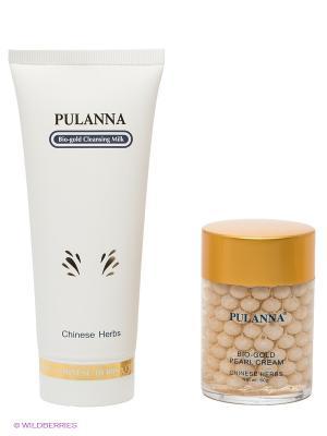 Подарочный набор Bio-gold Cosmetics Set PULANNA. Цвет: белый