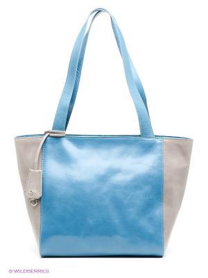 Сумка Pimo Betti. Цвет: голубой, бежевый
