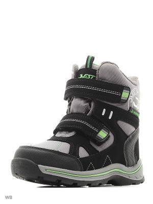 Ботинки QWEST. Цвет: черный, серый