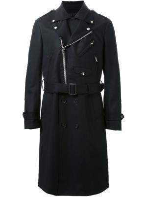 Двубортное пальто Almostblack. Цвет: чёрный
