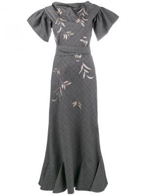 Платье Isabel Attico. Цвет: серый