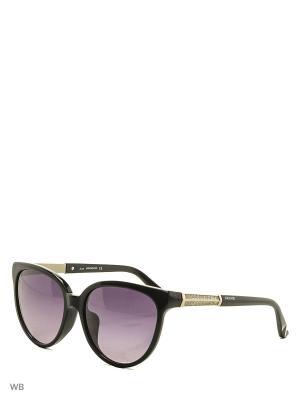 Солнцезащитные очки SK 0082F 01B Swarovski. Цвет: черный, серебристый