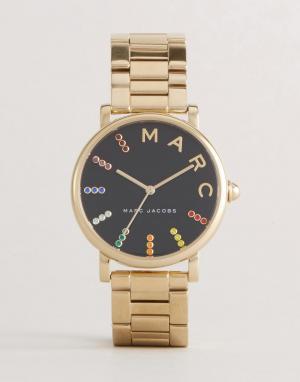Marc Jacobs Классические наручные часы с золотистым браслетом MJ3567. Цвет: золотой