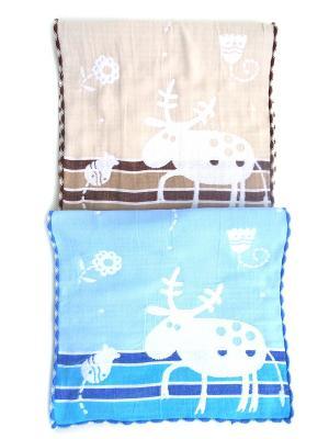 Полотенца банные A and C Collection. Цвет: бежевый, голубой
