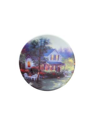 Тарелка декоративная Усадьба Elan Gallery. Цвет: белый, зеленый, красный