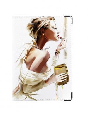 Обложка для паспорта Opera Tina Bolotina. Цвет: светло-коричневый, светло-серый, белый