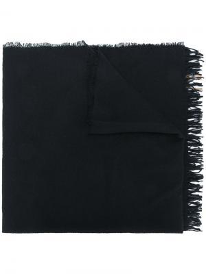 Шарф с полосками Uma Wang. Цвет: чёрный