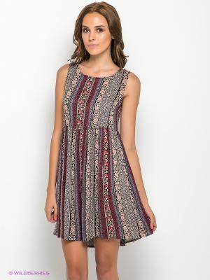 Платье New Look. Цвет: красный, розовый, черный, сиреневый
