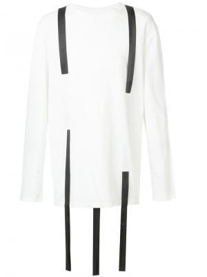 Рубашка с контрастными вставками D.Gnak. Цвет: белый