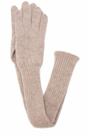 Удлиненные кашемировые перчатки Tegin. Цвет: розовый